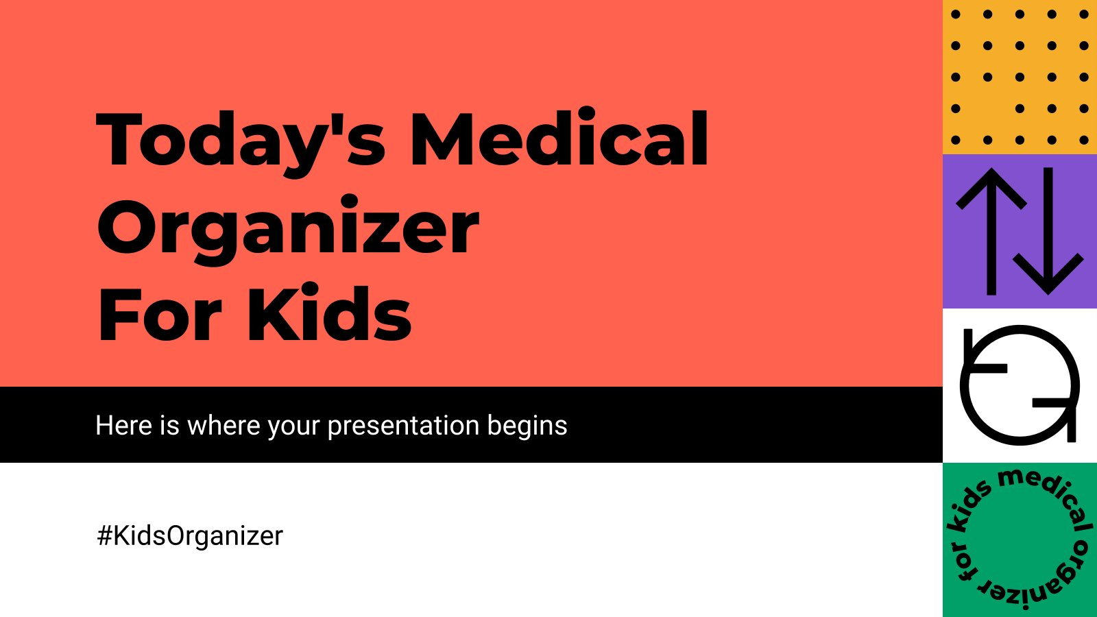 Modelo de apresentação Organizador médico para crianças