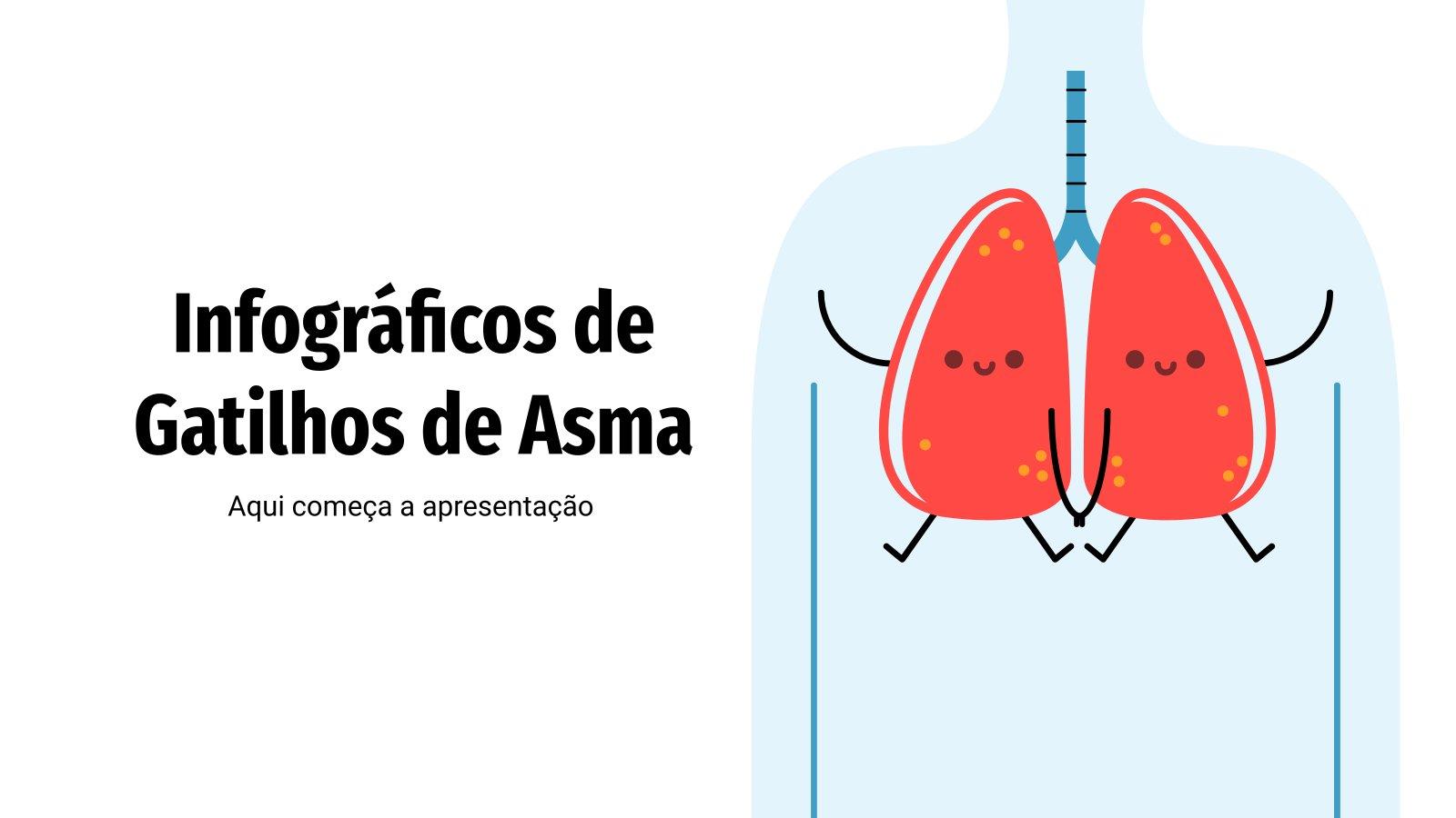 Infográficos de gatilhos de asma presentation template