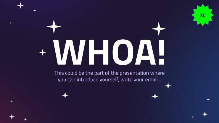 Weltall-Urlaub Präsentationsvorlage