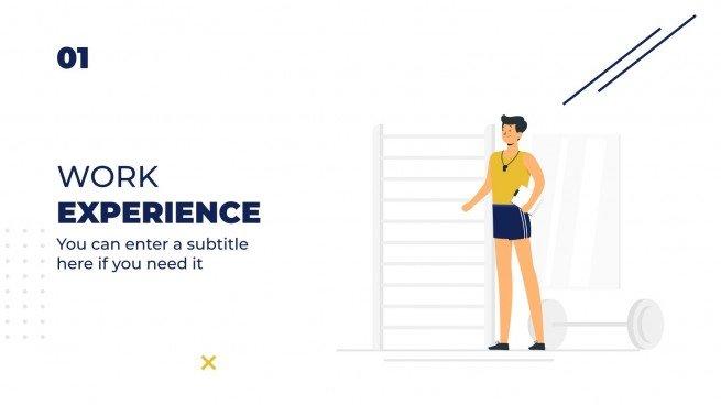 Modelo de apresentação CV de personal trainer