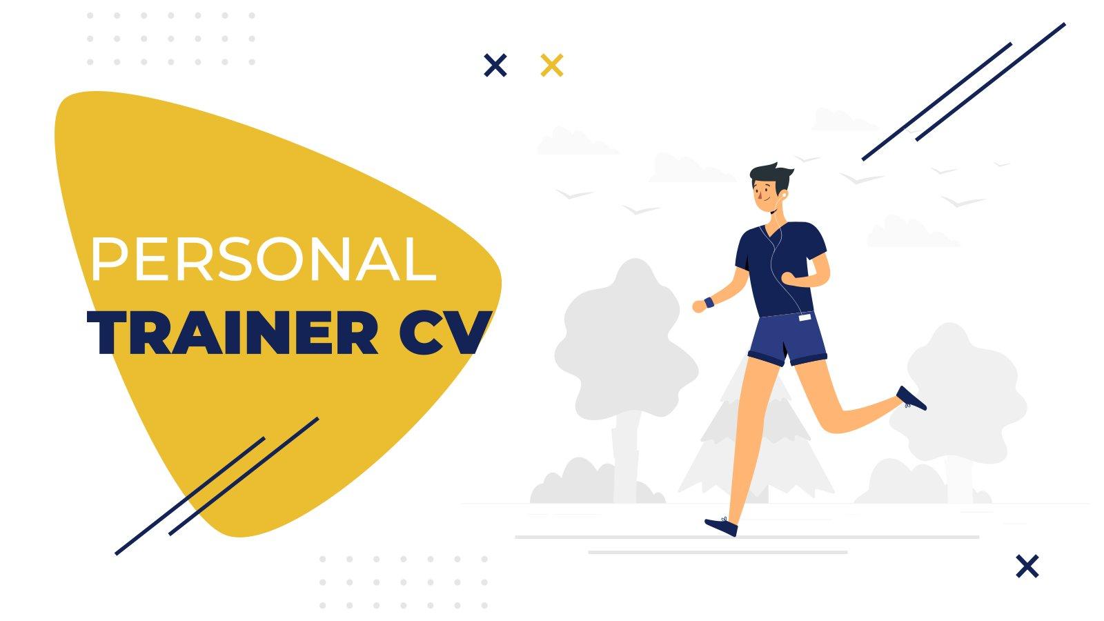 Plantilla de presentación CV para entrenadores personales