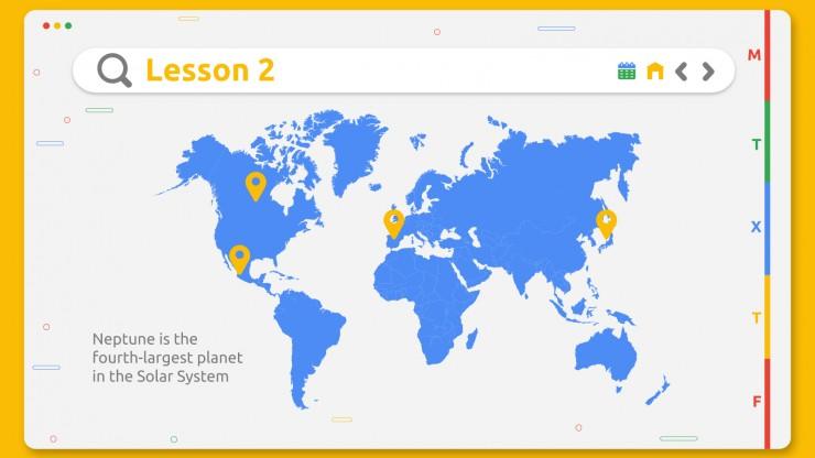 Online Learning Planner presentation template