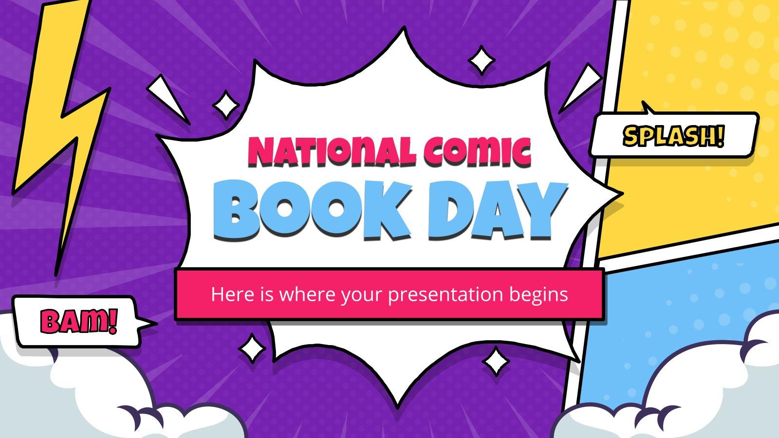 Nationaler Tag des Comic-Buchs Präsentationsvorlage