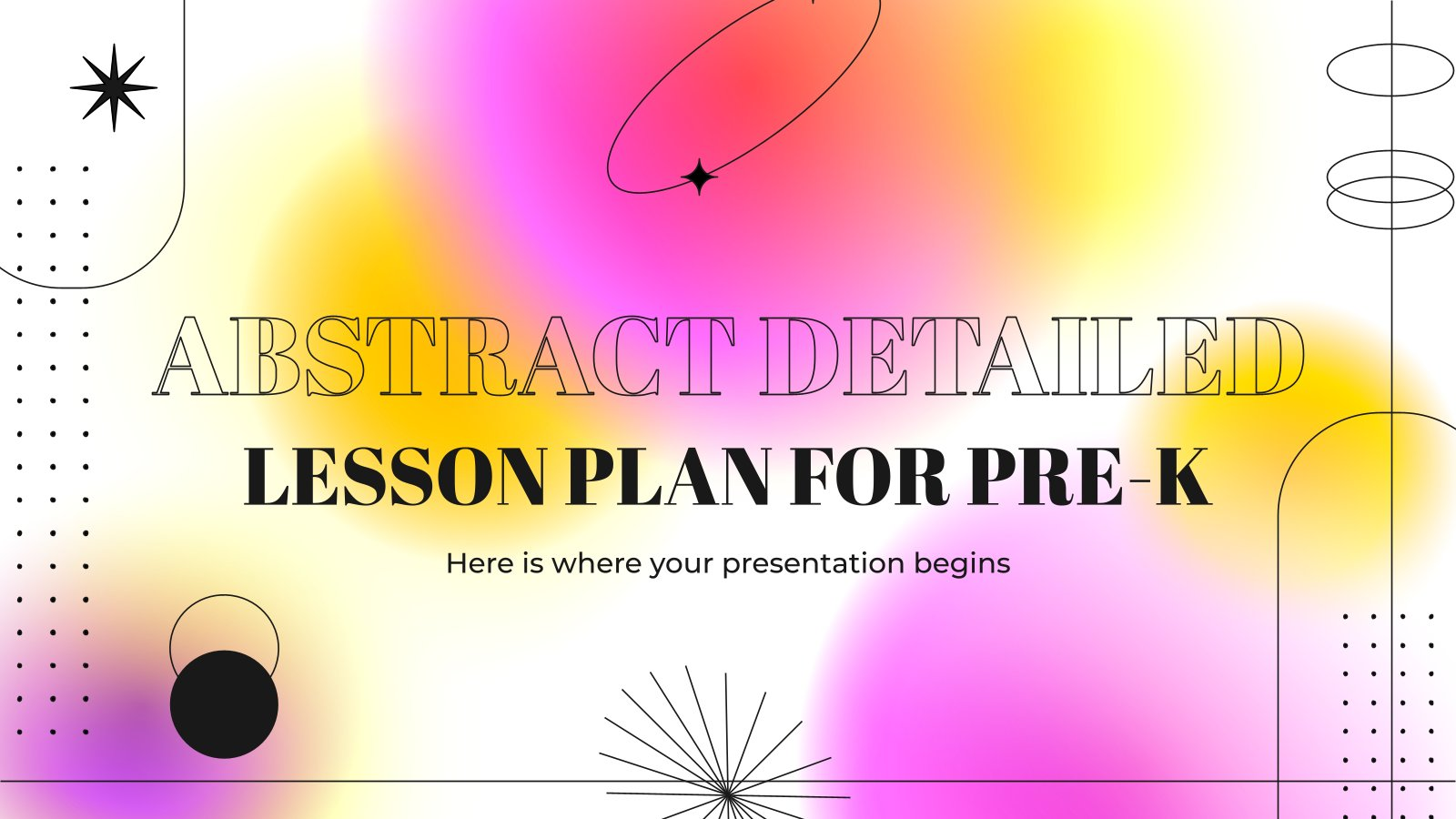 Abstract Detailed Lesson Plan for Pre-K presentation template