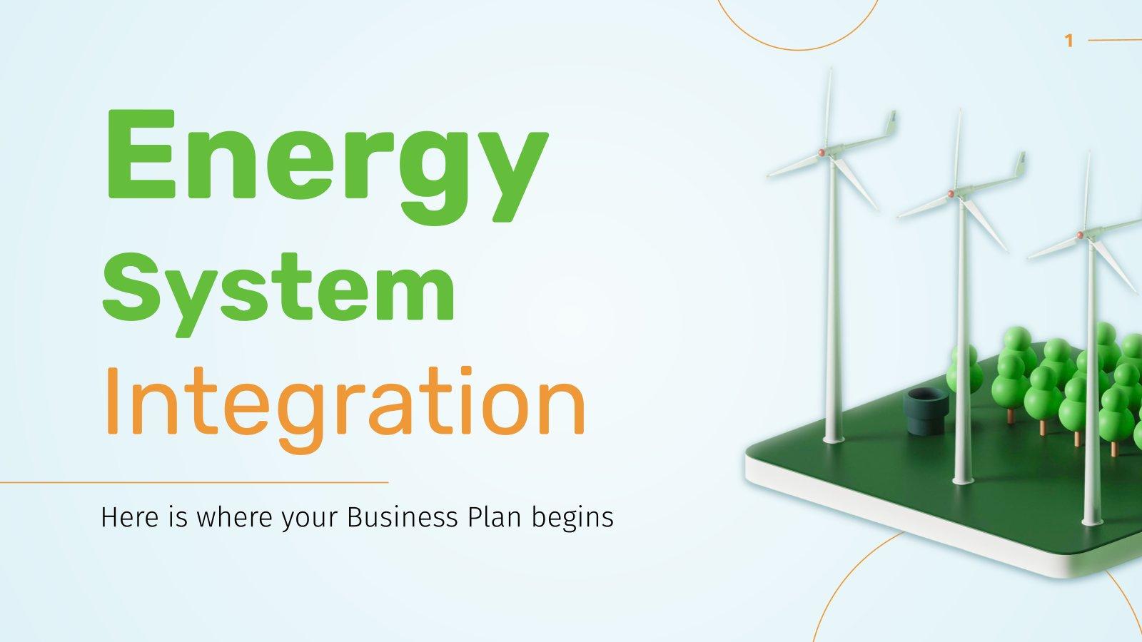 Modelo de apresentação Integração de sistemas de energia para empresas
