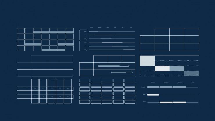 Modernes, geometrisches Pitch Deck. Präsentationsvorlage