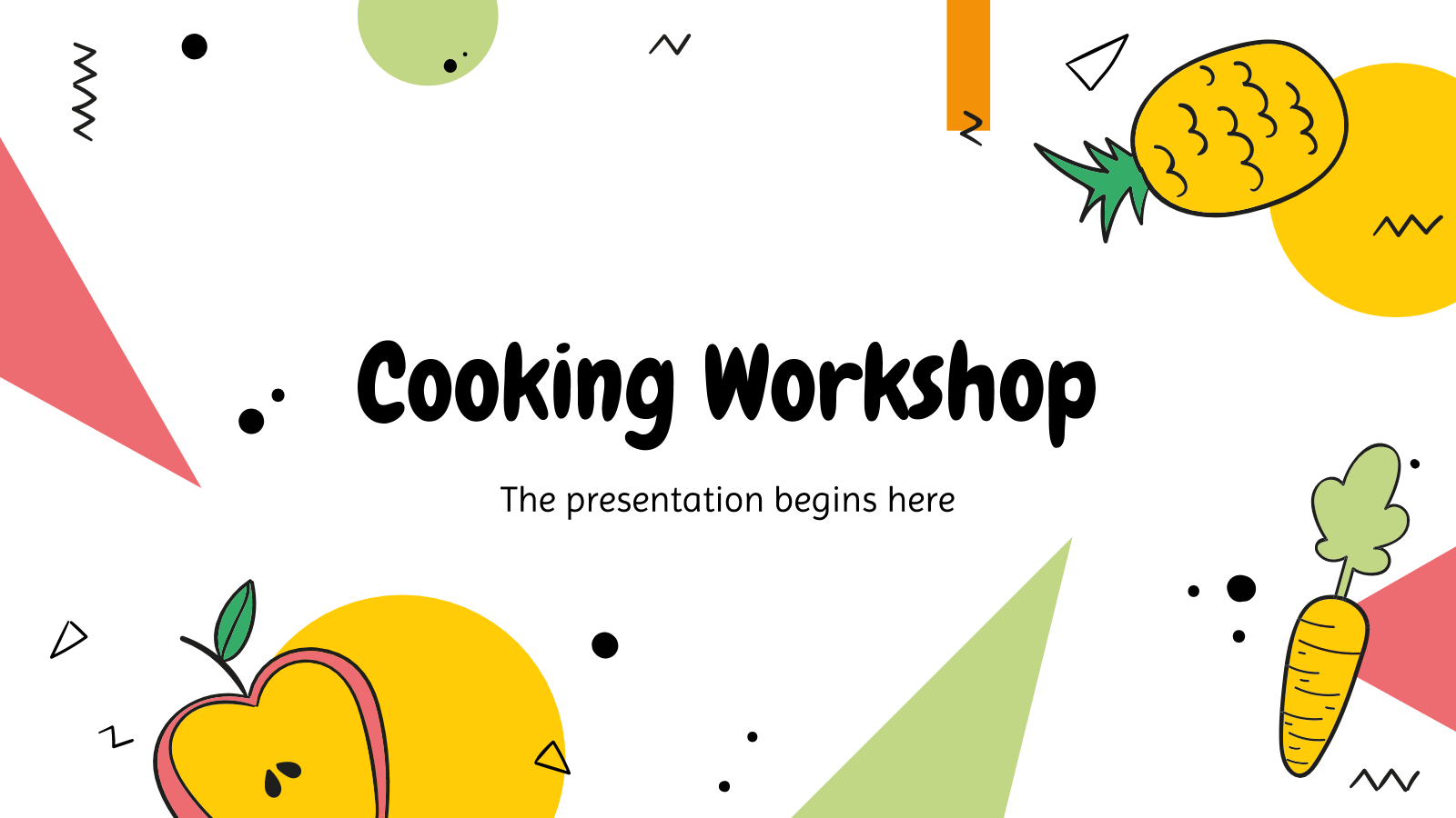 Modelo de apresentação Aula de culinária