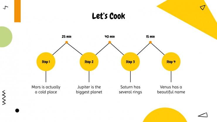 Plantilla de presentación Taller de cocina