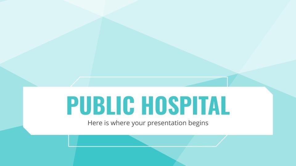 Hôpital public : Modèles de présentation