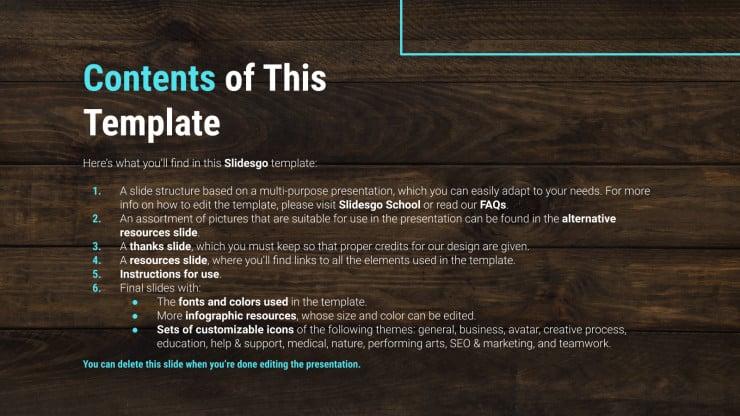 Plantilla de presentación Texturas de madera