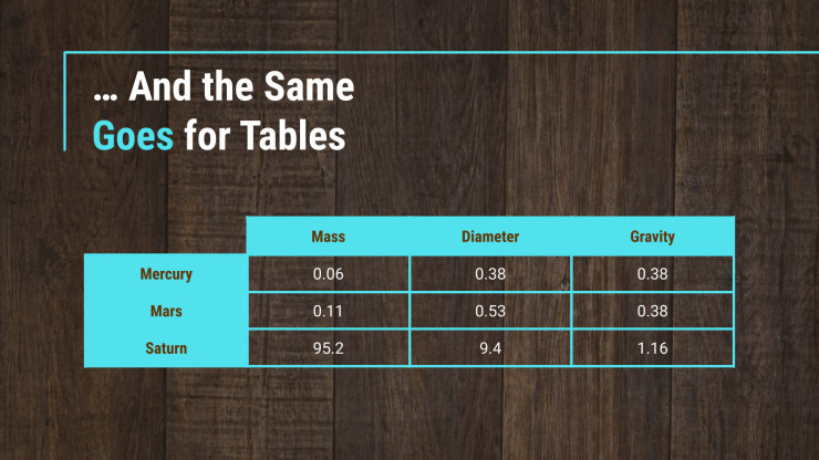 Wood Texture presentation template