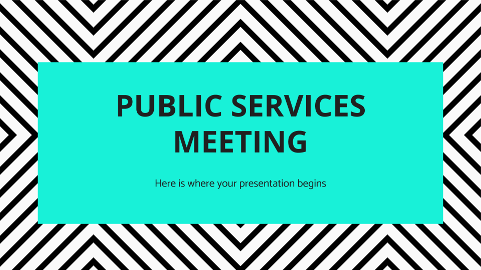 Réunion des services publics : Modèles de présentation