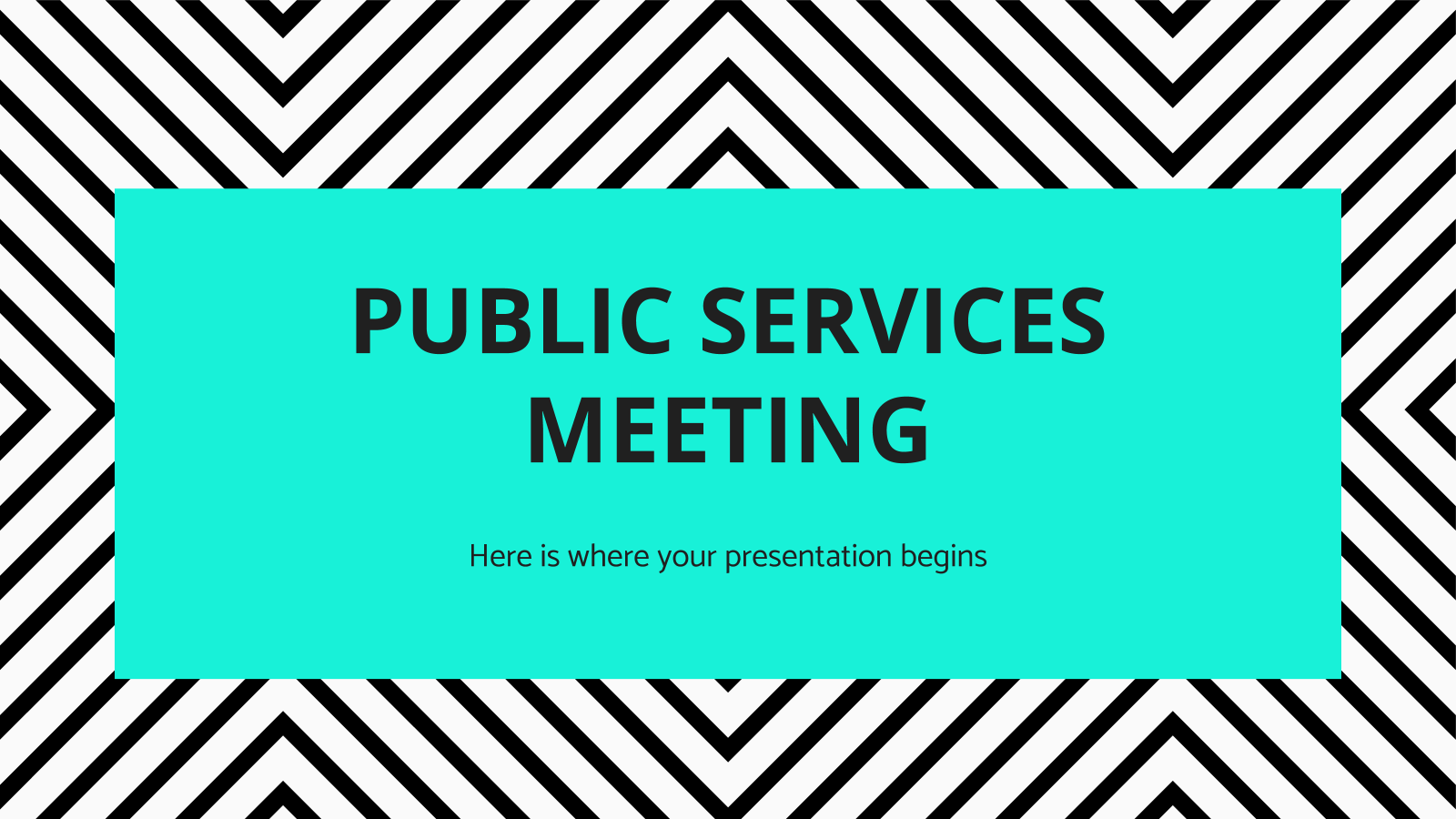 Public Services Meeting presentation template