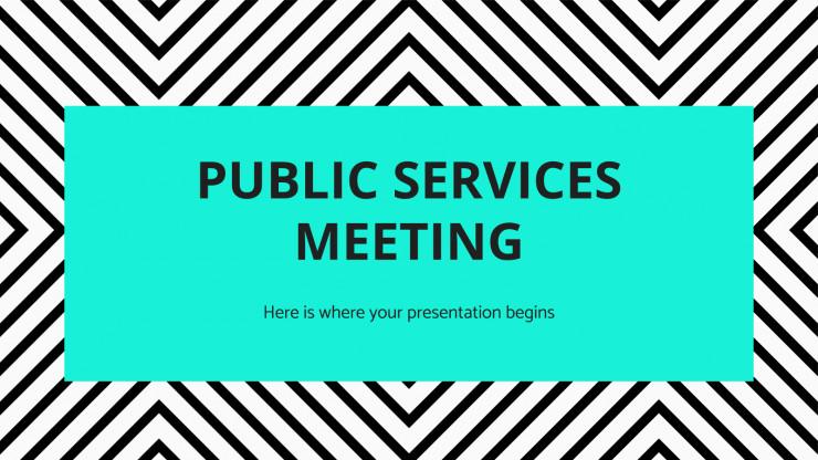 Plantilla de presentación Reunión sobre servicios públicos