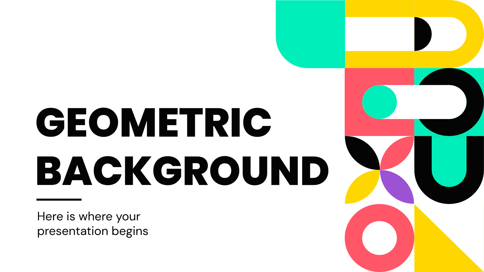 Geometric Background presentation template