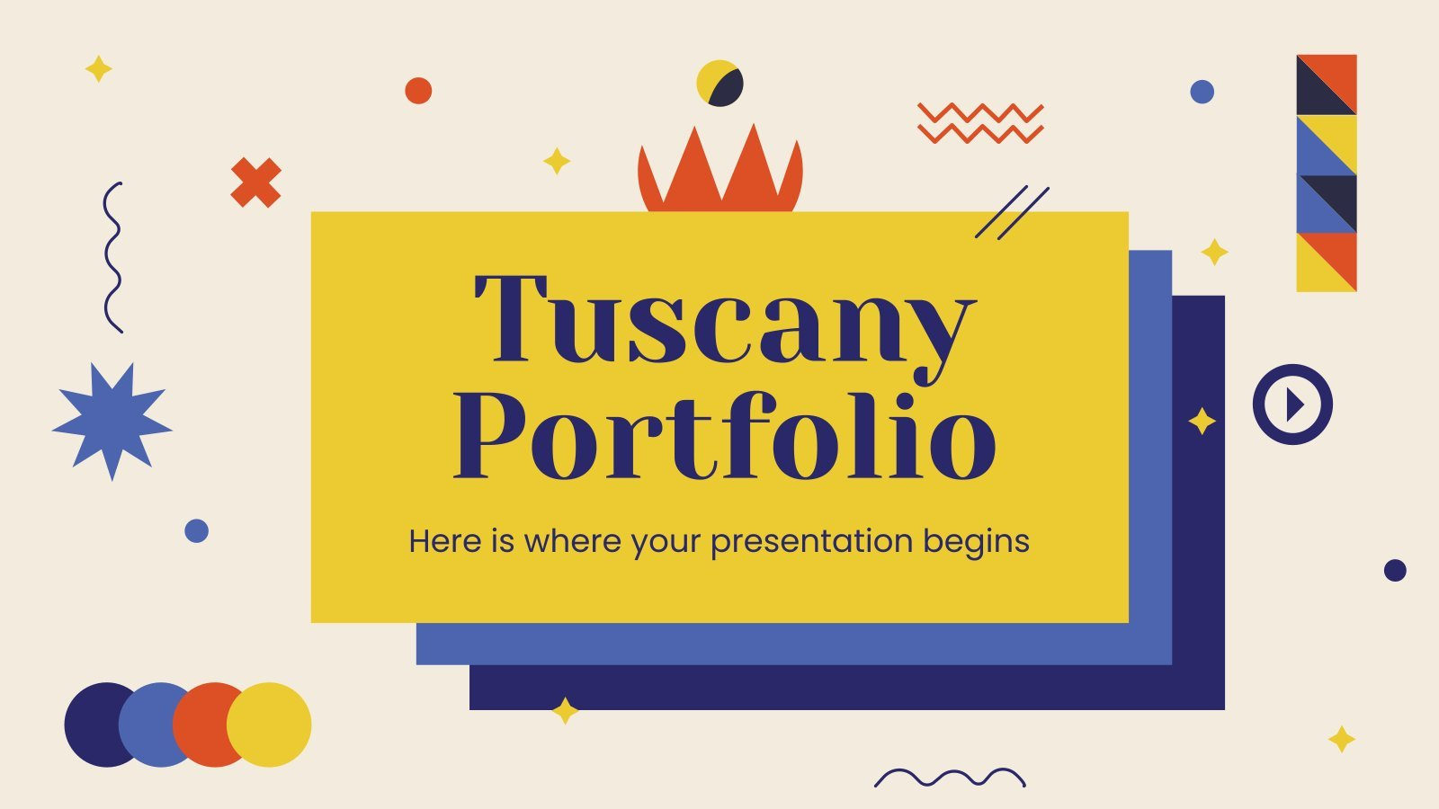 Plantilla de presentación Portafolio Tuscany