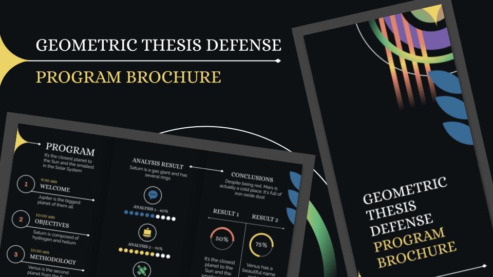 Geometric Thesis Defense Program Brochure presentation template