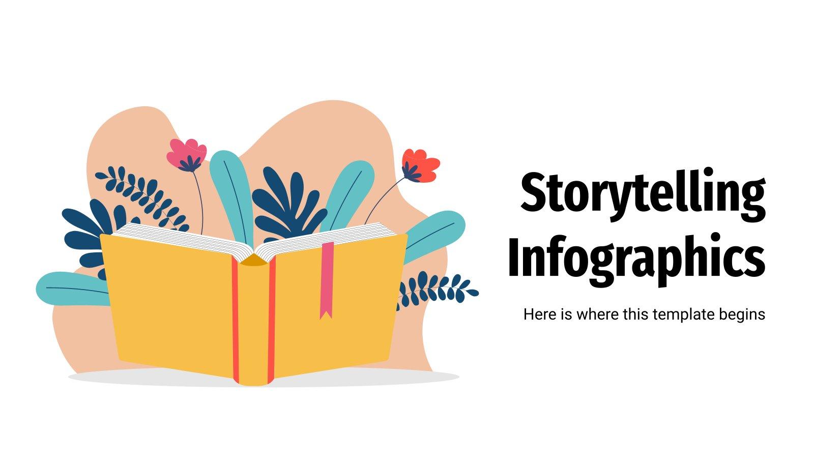 Infografiken zum Storytelling Präsentationsvorlage