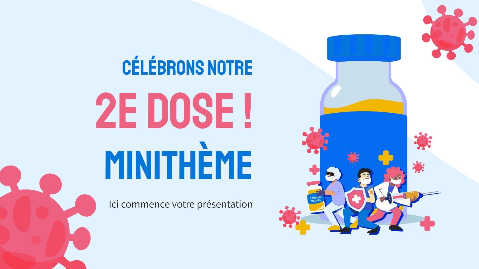Wir feiern unsere 2. Dosis! Minithema Präsentationsvorlage
