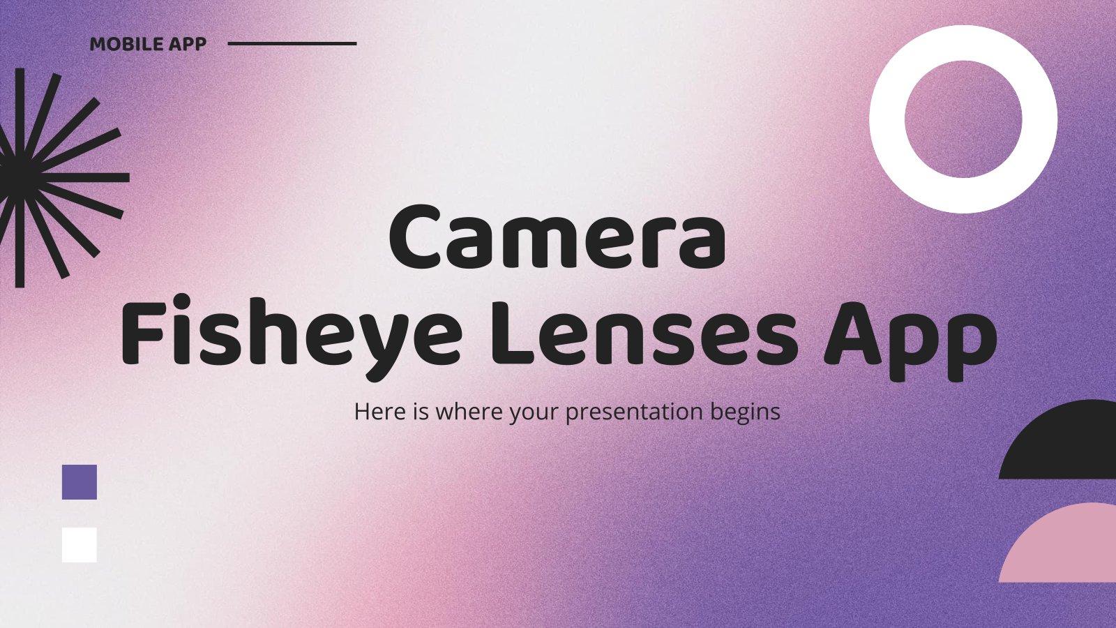 Modelo de apresentação App de objetiva olho de peixe