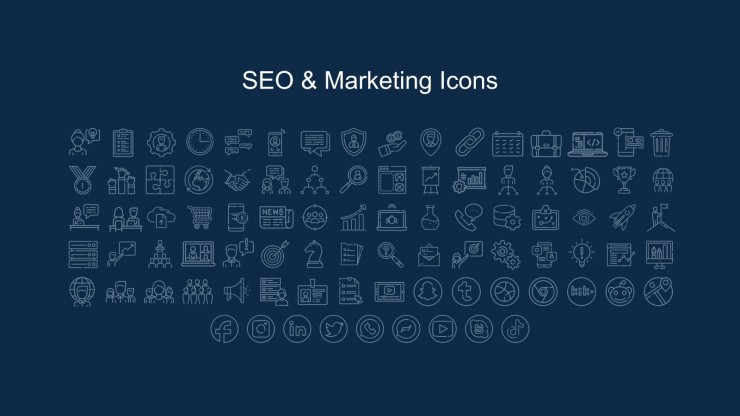 Neonfolien für das Marketing Präsentationsvorlage