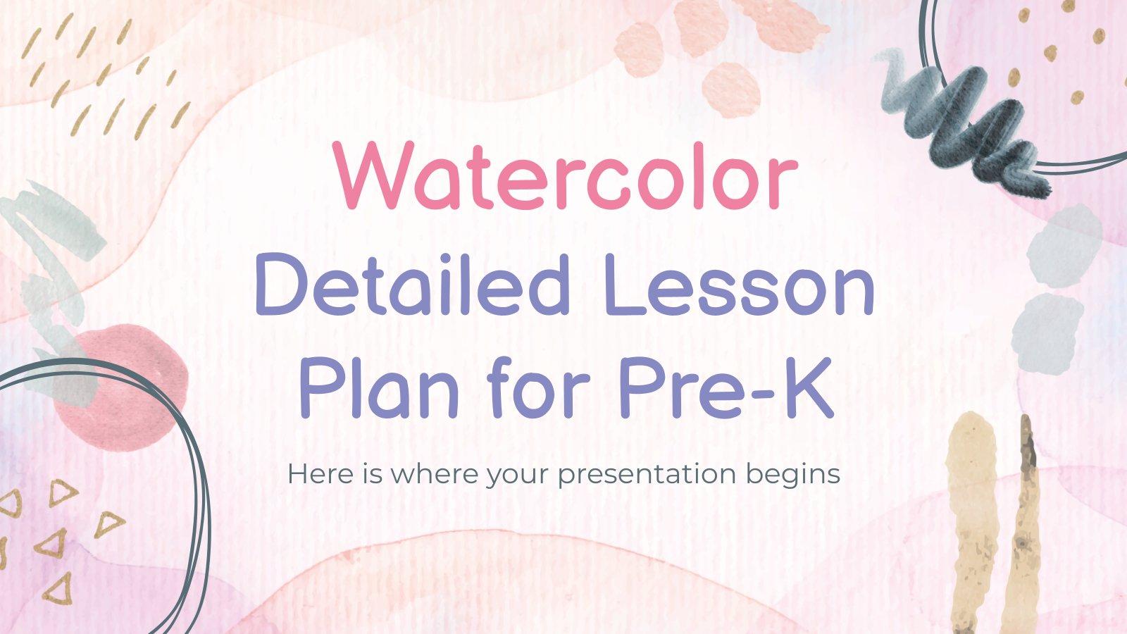Plan de cours avec aquarelles : Modèles de présentation