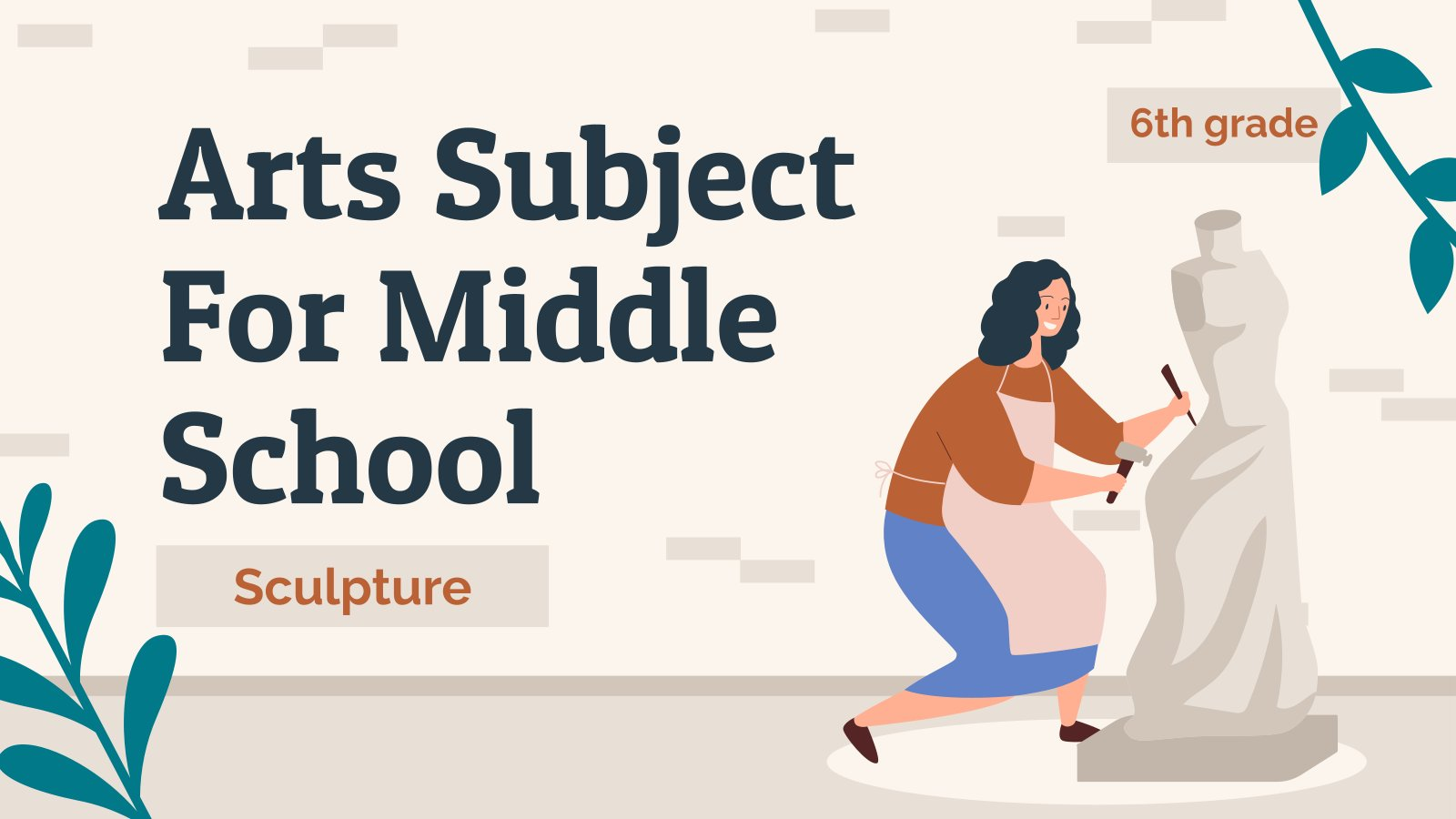 Arts Subject for Middle School - 6th Grade: Sculpture presentation template