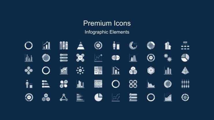 Profile d'entreprise d'interface de grille bleue et notes autocollantes : Modèles de présentation