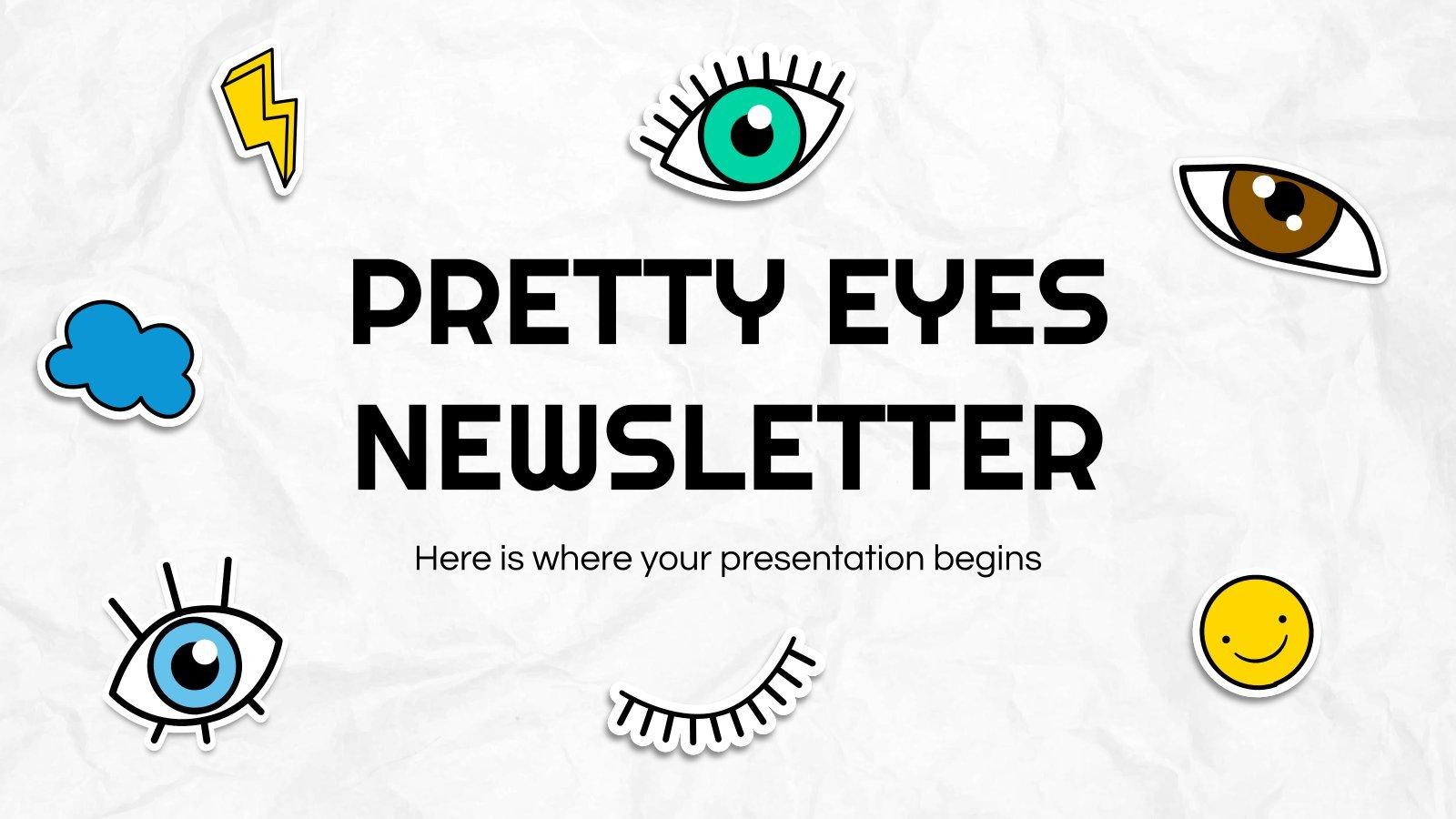 Plantilla de presentación Newsletter con ojitos
