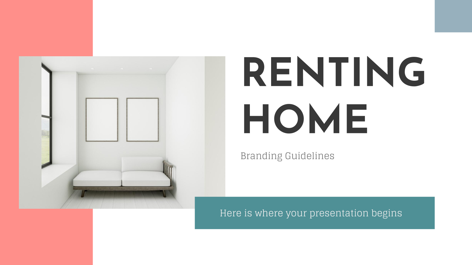 Renting Home Brand Guidelines presentation template