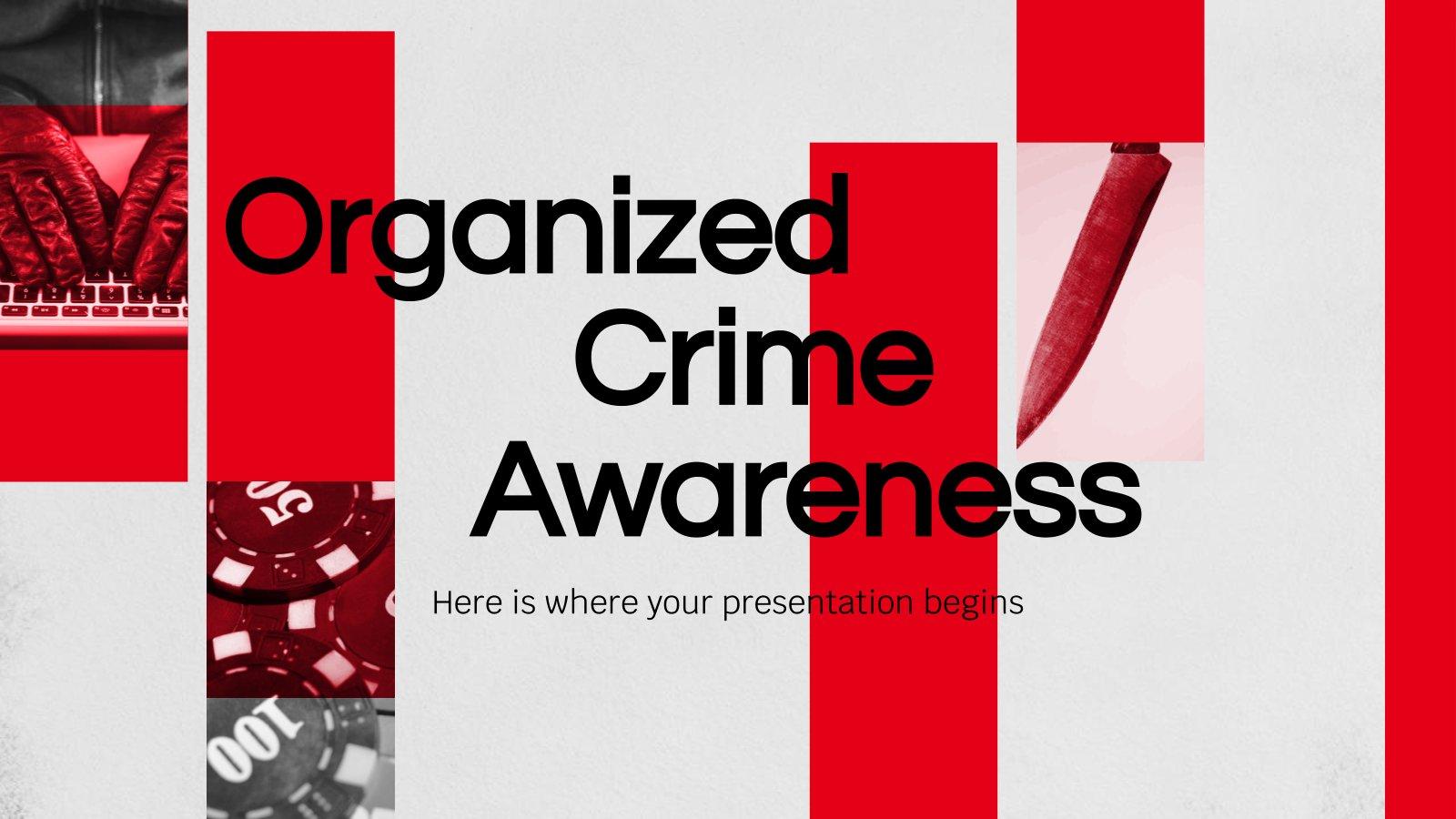 Plantilla de presentación Concienciación sobre el crimen organizado