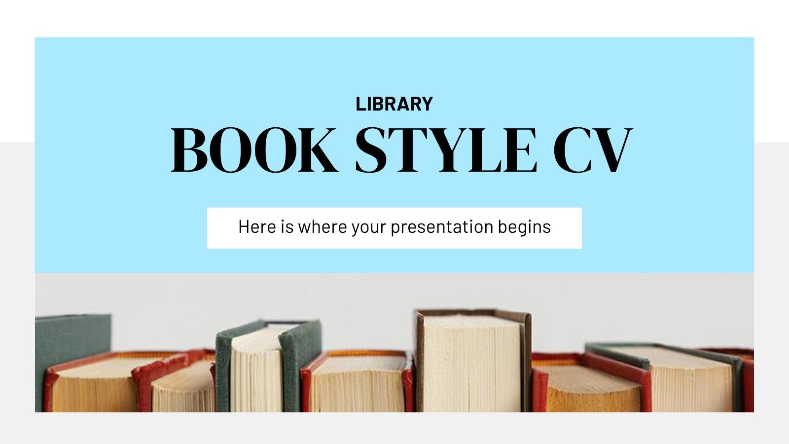 Library Book Style CV presentation template