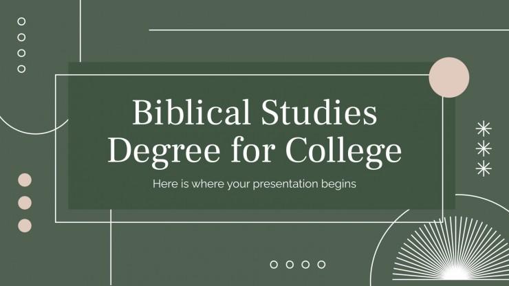 Biblical Studies Degree for College presentation template