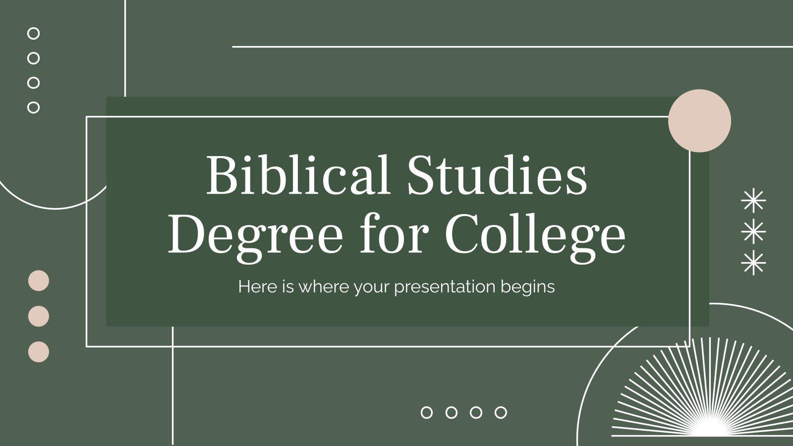 Modelo de apresentação Licenciatura em Estudos Bíblicos