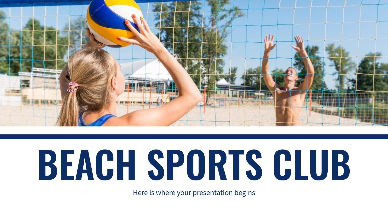 Strand-Sportverein presentation template
