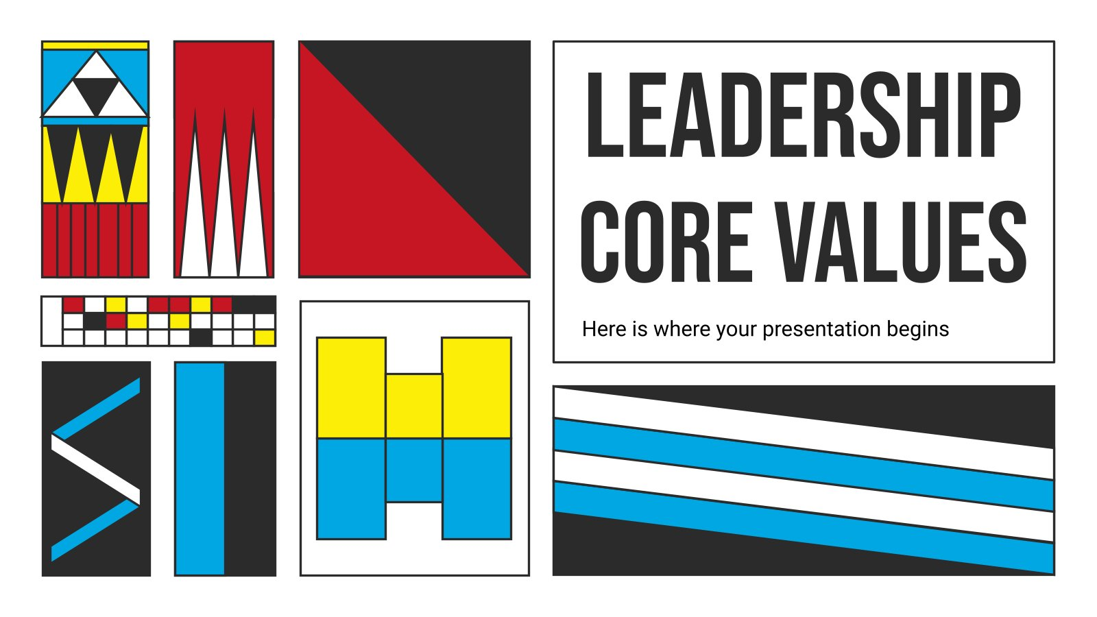Leadership Core Values presentation template