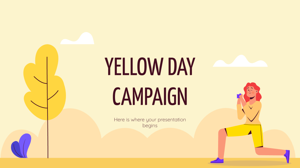 Yellow Day Kampagne Präsentationsvorlage