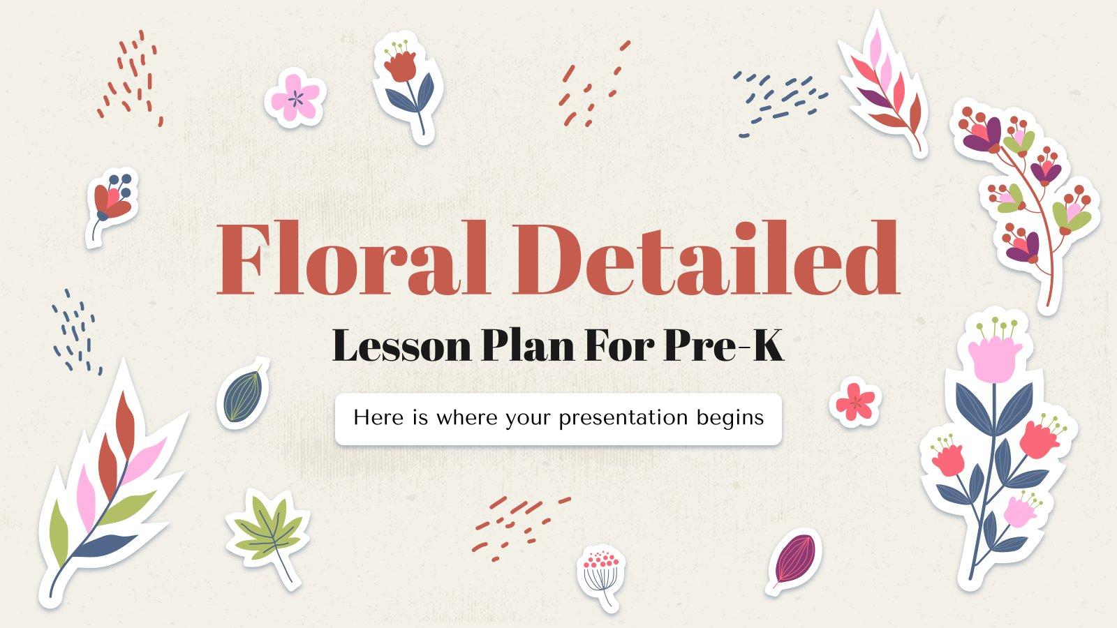 Floral Detaillierter Lehrplan für Pre-K Präsentationsvorlage