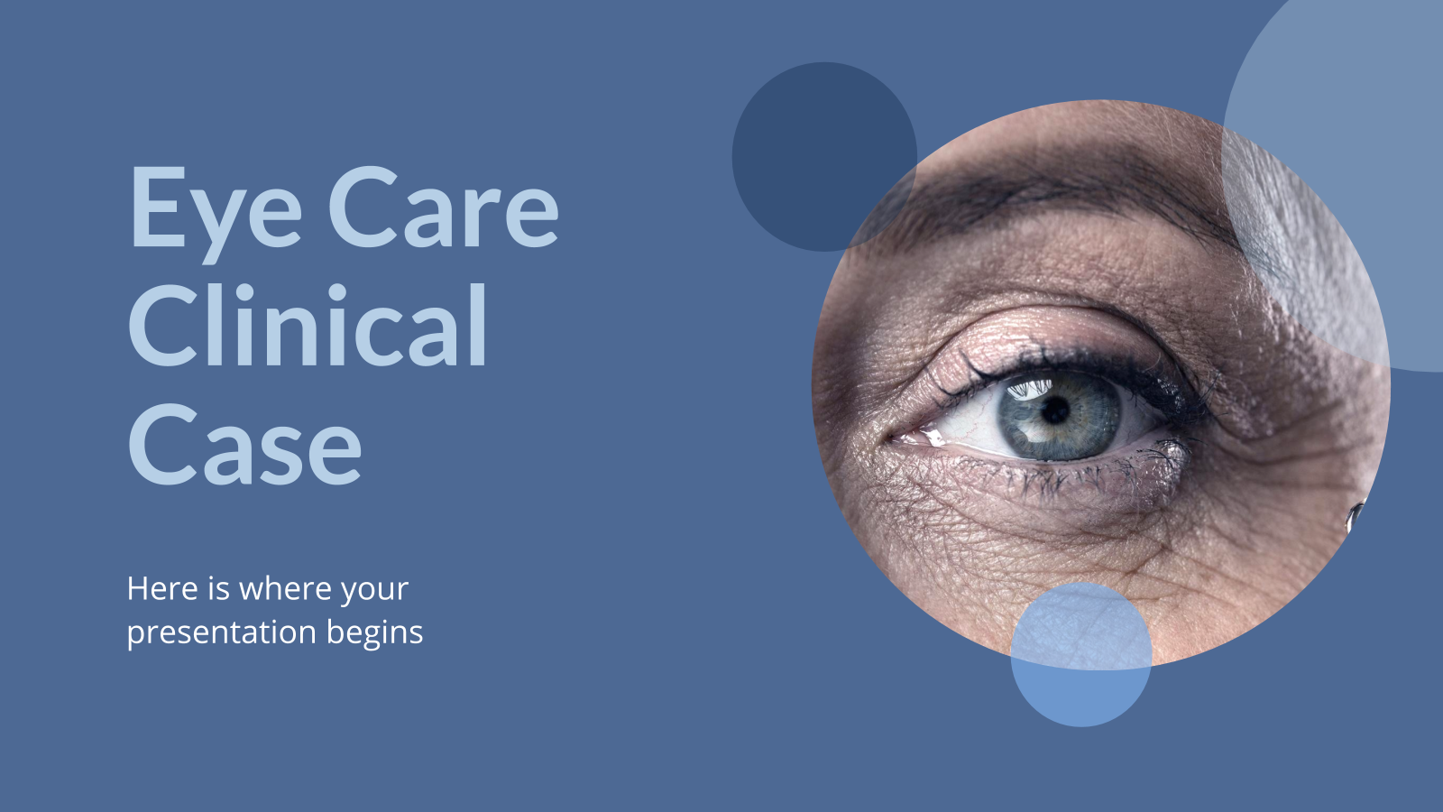 Eye Care Clinical Case presentation template