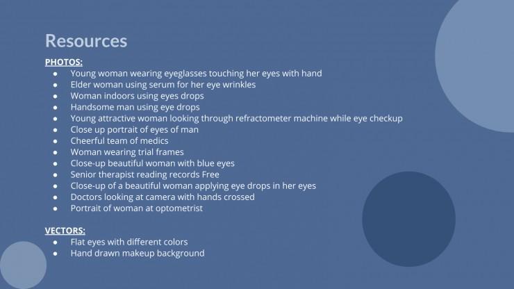 Eye Care Clinical Case presentation template