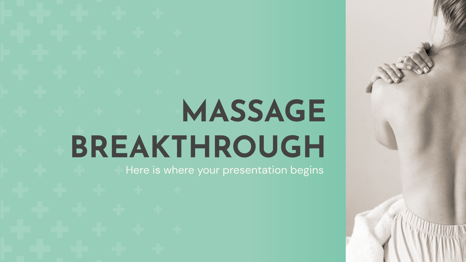 Massage Breakthrough presentation template