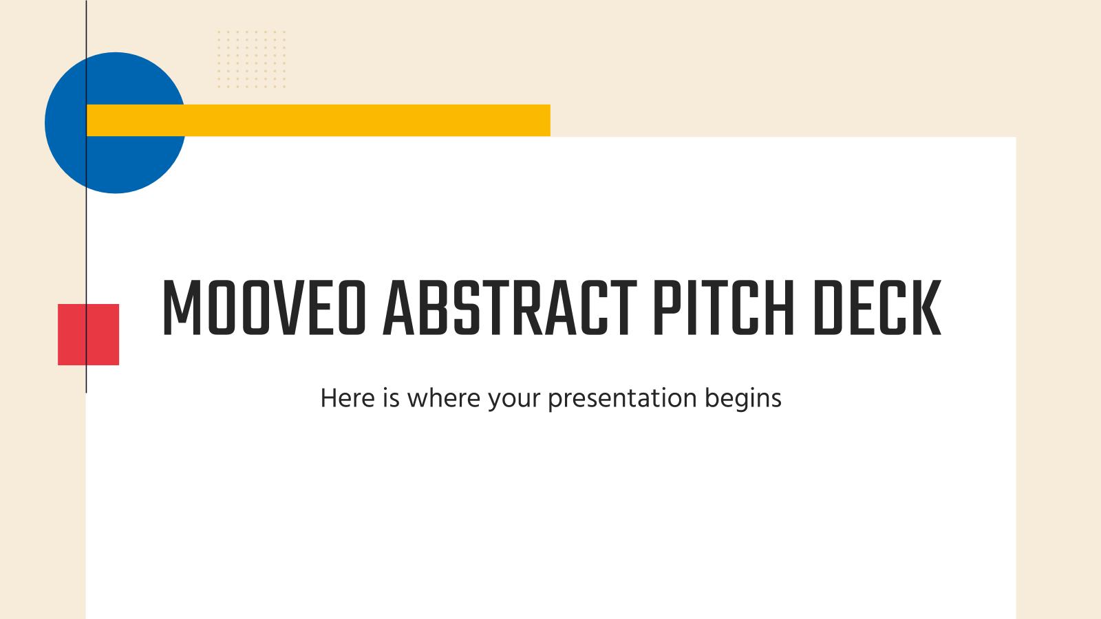 Plantilla de presentación Pitch deck abstracto Mooveo