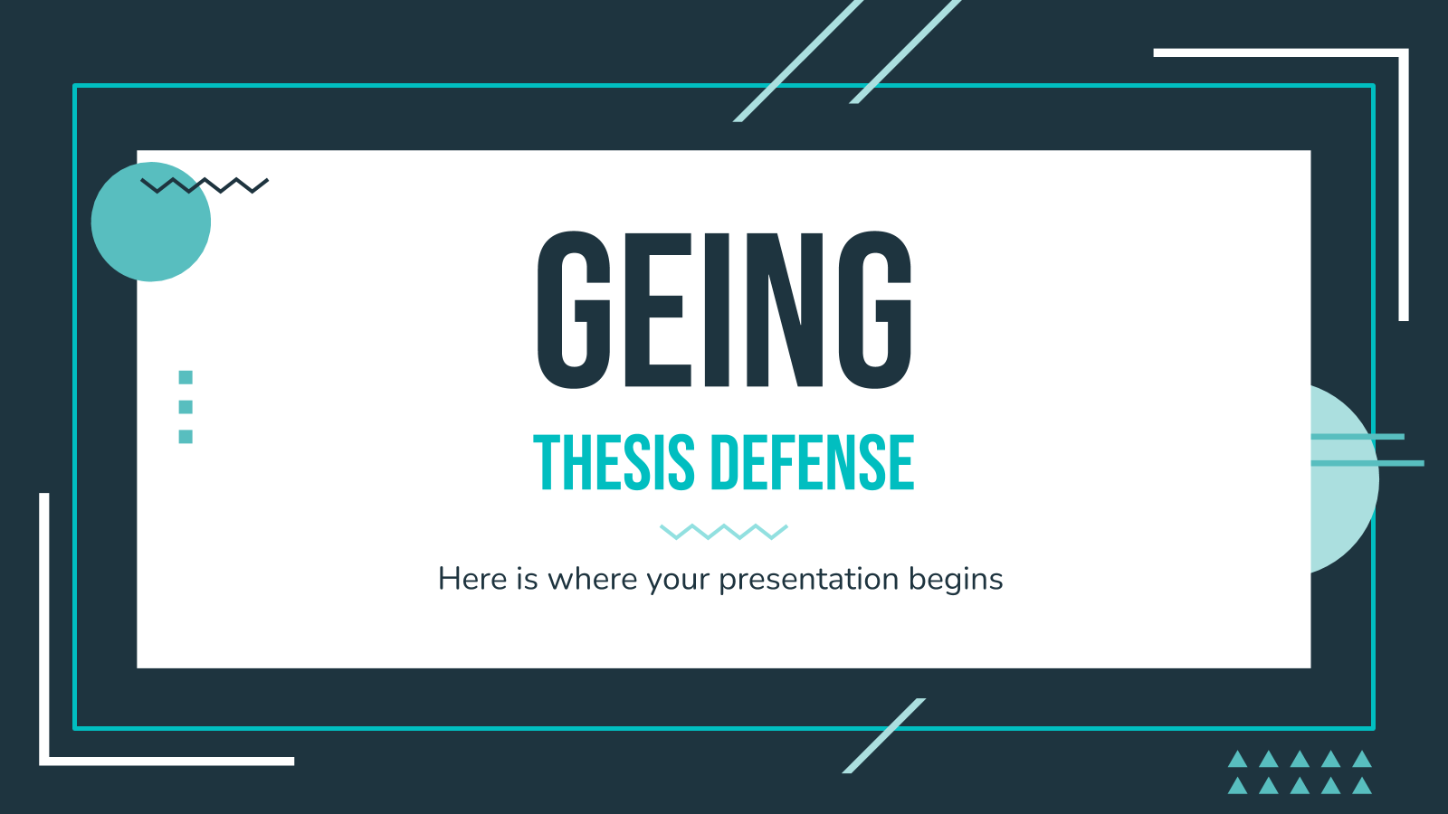 Geing Thesis Defense presentation template