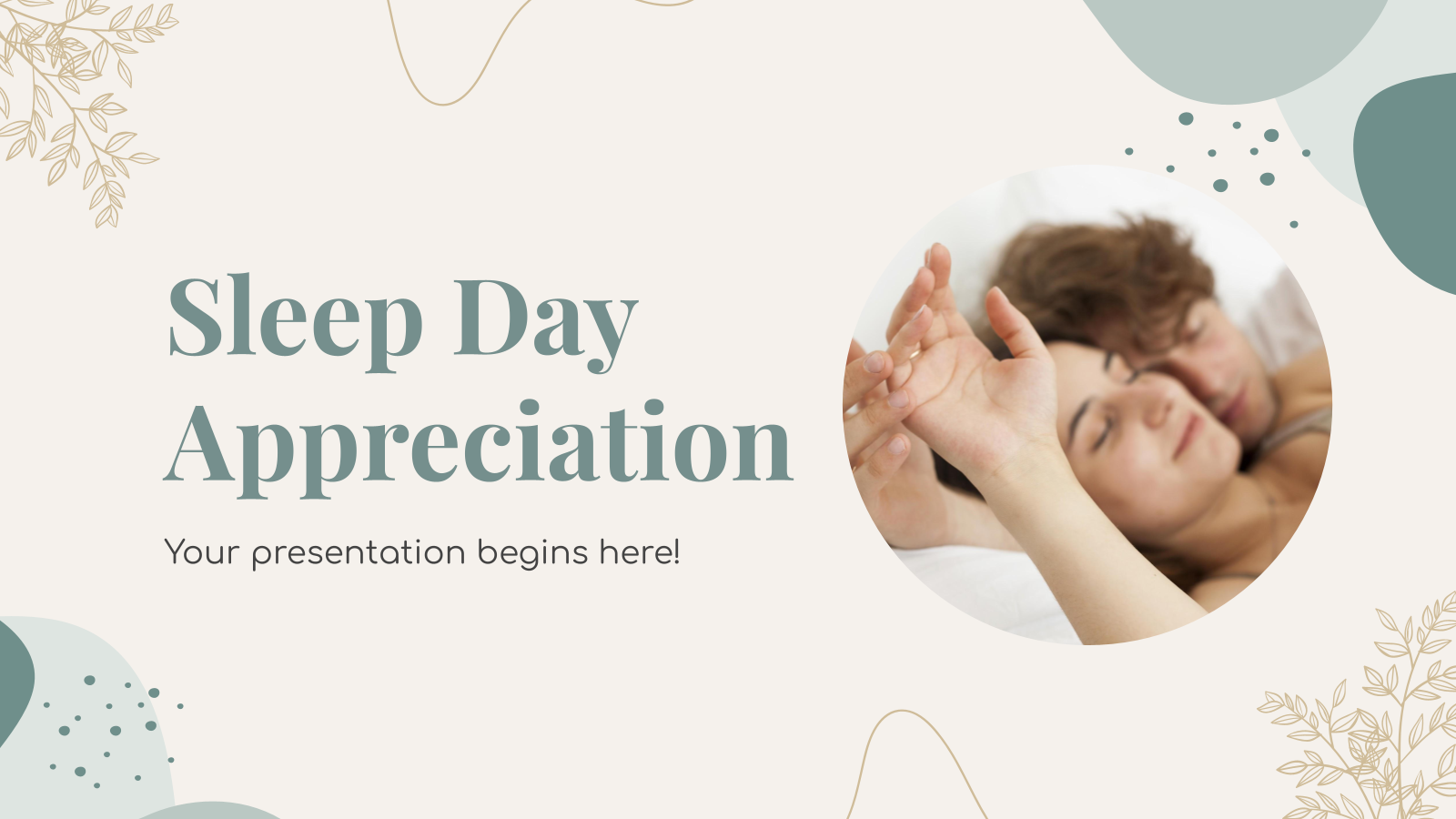 Sleep Day Appreciation presentation template