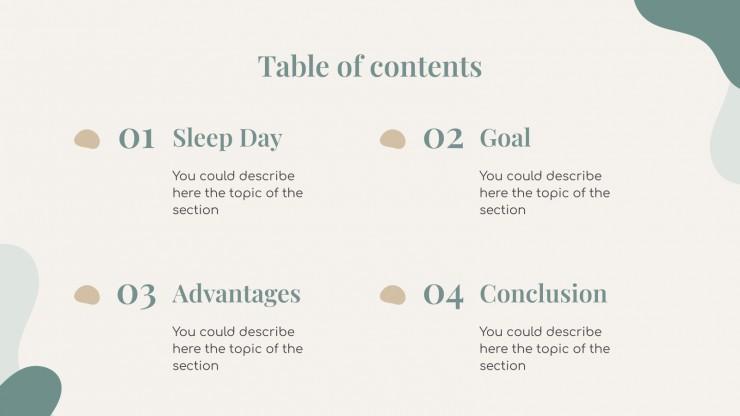 Sleep Day Appreciation presentation template