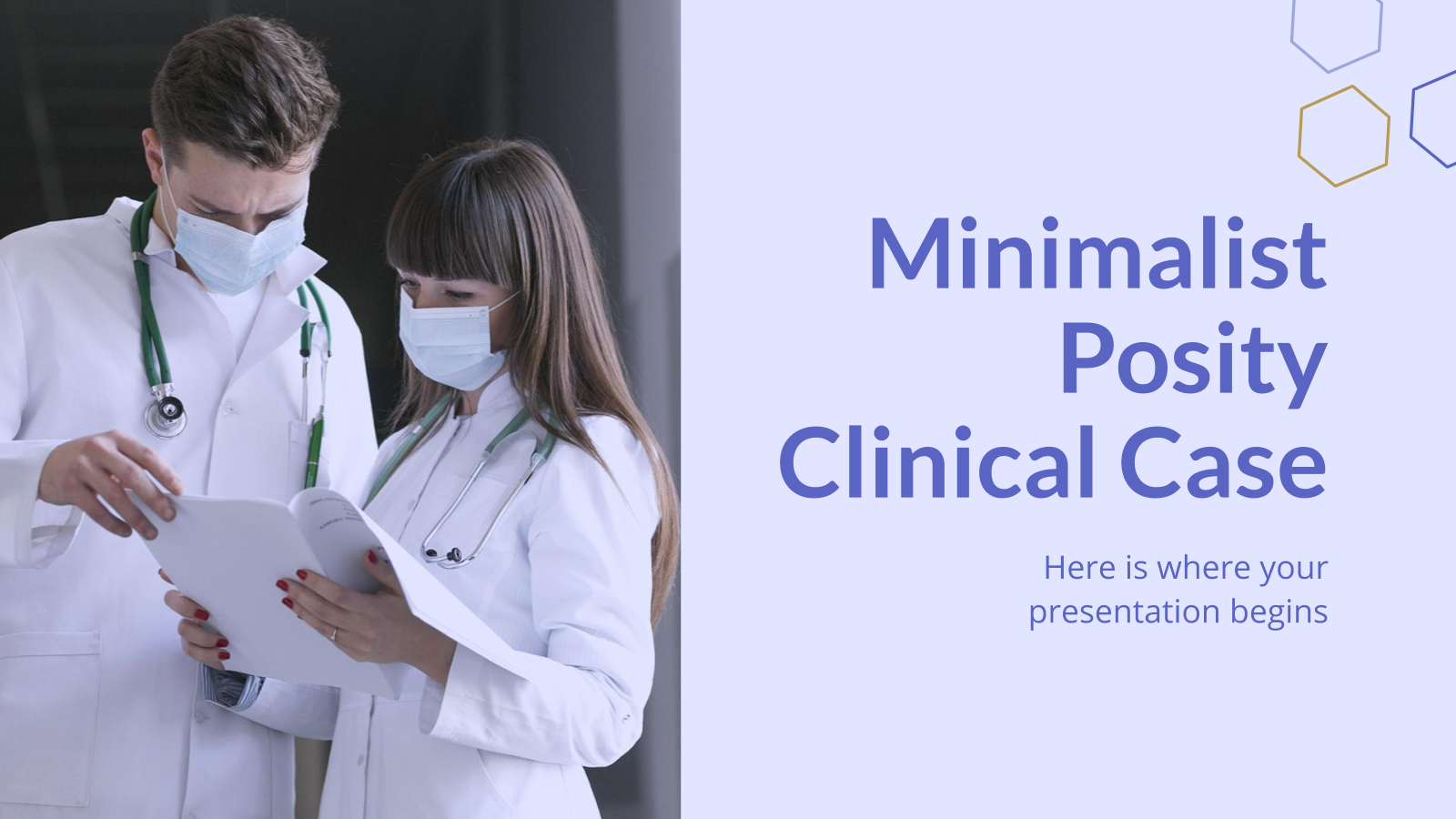 Minimalist Posity Clinical Case presentation template