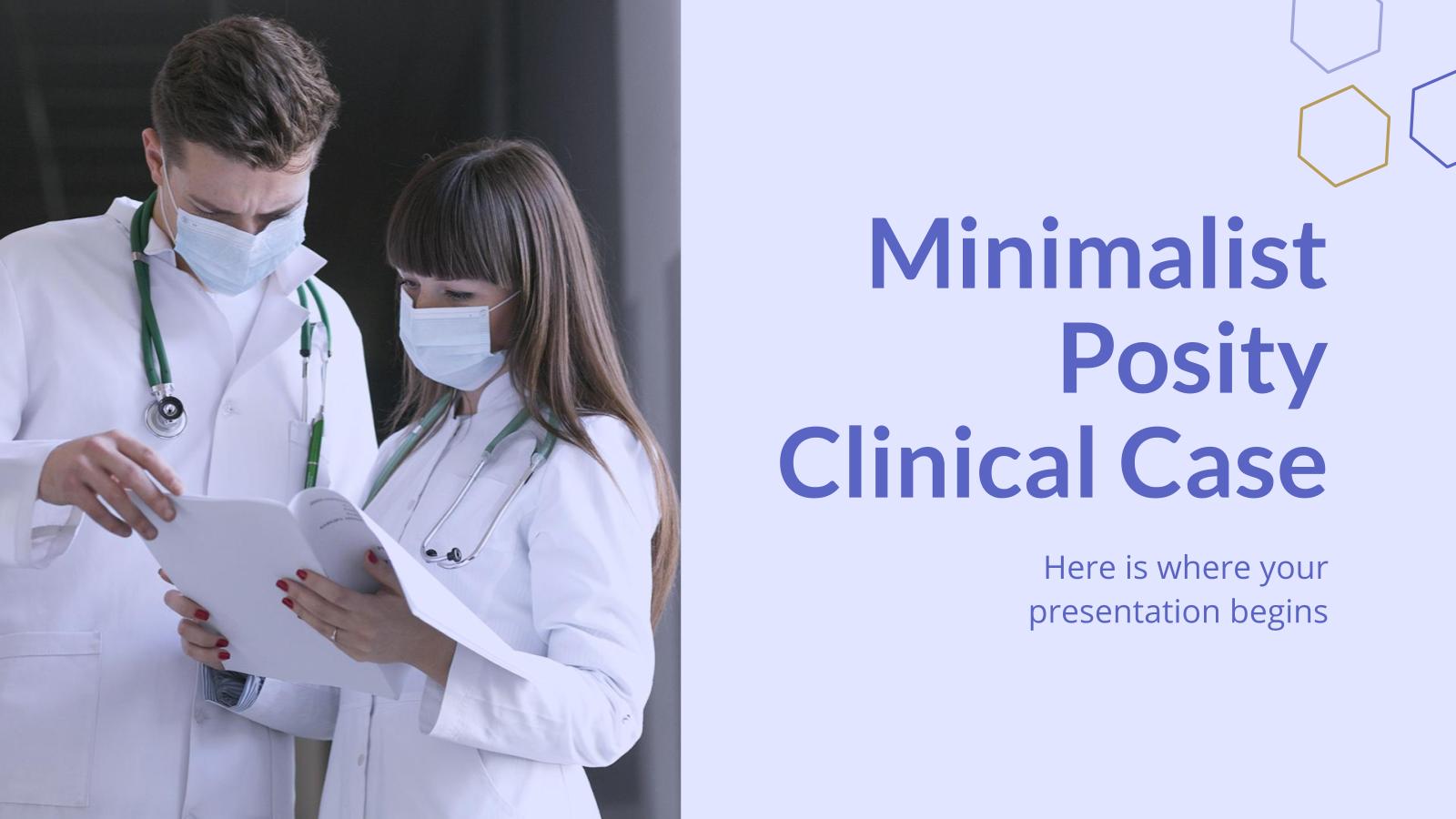 Modelo de apresentação Caso clínico Posity minimalista
