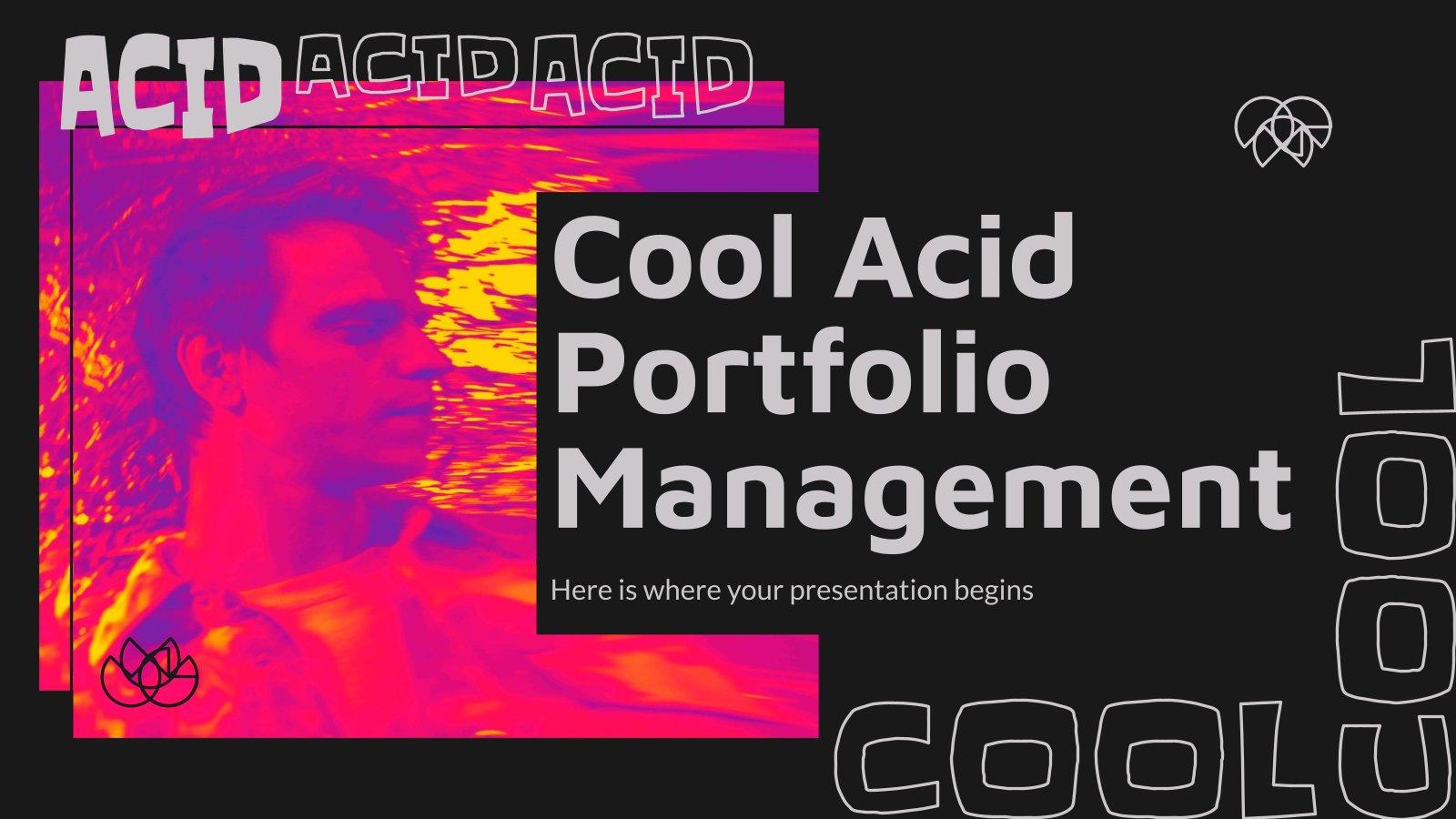 Plantilla de presentación Portafolio ácido para managers