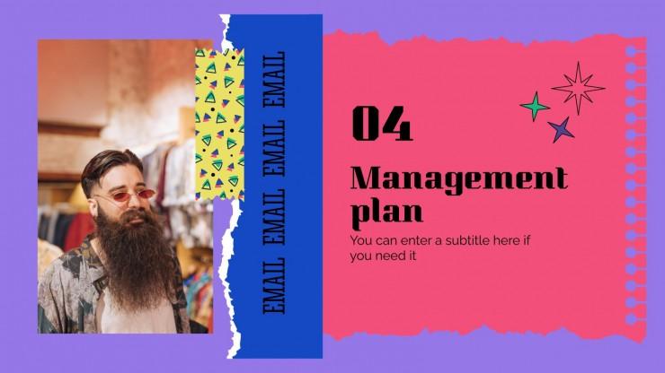 Businessplan im brutalistischen Scrapbook-Stil Präsentationsvorlage
