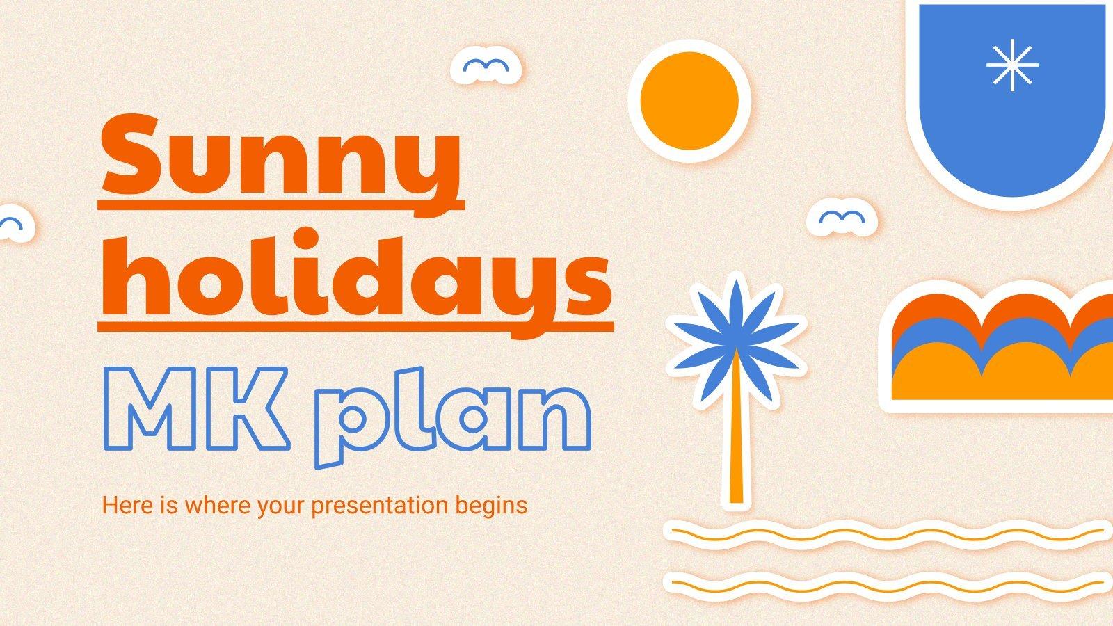 Sunny Holidays MK Plan presentation template